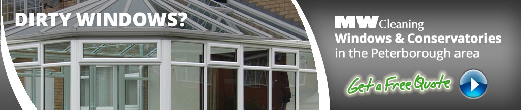 window cleaning services for houses and conservatories in Peterbrough