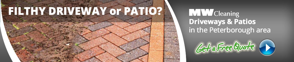 driveway and patio cleaning services in Peterbrough