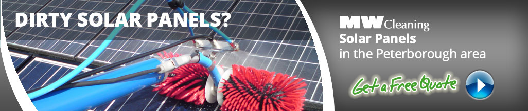 solar panel cleaning services in Peterbrough
